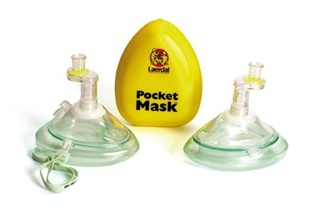 MASK CPR POCKET W/1 WAY VALVE